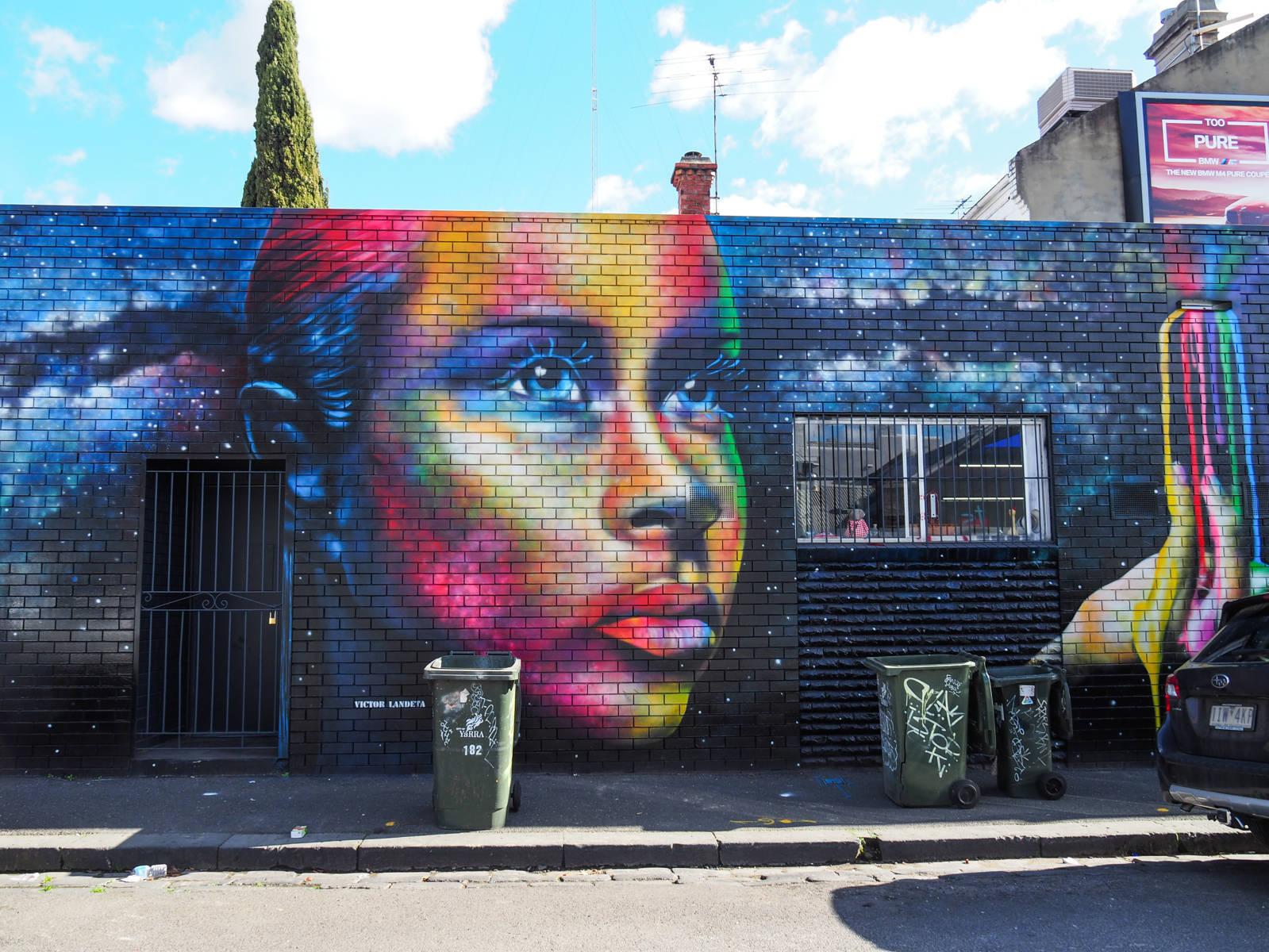 Melbourne tag rainbow face